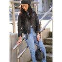 beautiful people [ビューティフルピープル] / vintage leather riders jacket (ヴィンテージ レザー ライダース ジャケット レディースキッズサイズ) 1725402411【ANN】