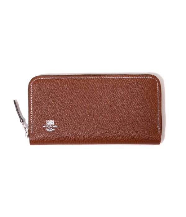 Whitehouse Cox / ホワイトハウスコックス : 【LONDON CALF×BRIDLE LEATHER COLLECTION】ZIP ROUND PURSE / 全3色 : ロングウォレット財布 レザー ギフトラッピング可能 : S-2622-LONDONCALF-BLC【MUS】