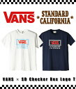STANDARD CALIFORNIA (スタンダードカリフォルニア) / VANS × SD Checker Box Logo T / 全...