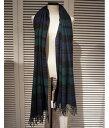■【予約商品 10月〜11月入荷予定】Traditional Weather Wear [トラディショナルウェザーウェア] / BLANKET MUFFLER-BLACK WATCH- (ブランケット マフラー ストール ブラックグリーン チェック 大判 ブラックウォッチ) A172JGGO0022-TT01【ANN】