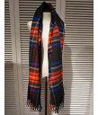 ■【予約商品 10月〜11月入荷予定】Traditional Weather Wear [トラディショナルウェザーウェア] / BLANKET MUFFLER -BLACK STEWART-- (ブランケット マフラー ストール ブラックチェック 大判 ブラックスチュアート) A172JGGO0022-TT16【ANN】