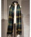■【予約商品 10月〜11月入荷予定】Traditional Weather Wear [トラディショナルウェザーウェア] / BLANKET MUFFLER -MCOVVELL- (ブランケット マフラー ストール グリーンチェック 大判) A172JGGO0022-TT26【ANN】
