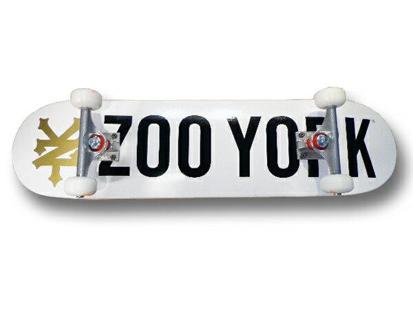 【スケボー/スケートボード/完成品】【送料無料】☆7台限定特別価格☆ZOO YORK(ズーヨーク)/PHOTO INCENTIVE WHITE 7.75/コンプリートセットA