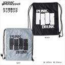 PUNK DRUNKERS(パンクドランカーズ)/たて四本ロゴナップサック