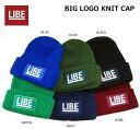 LIBE(ライブ)/BIG LOGO KNIT CAP/ニット帽