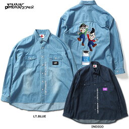 PUNK DRUNKERS(パンクドランカーズ)/[PDS×MILKBOY]ブラザーズデニムシャツ
