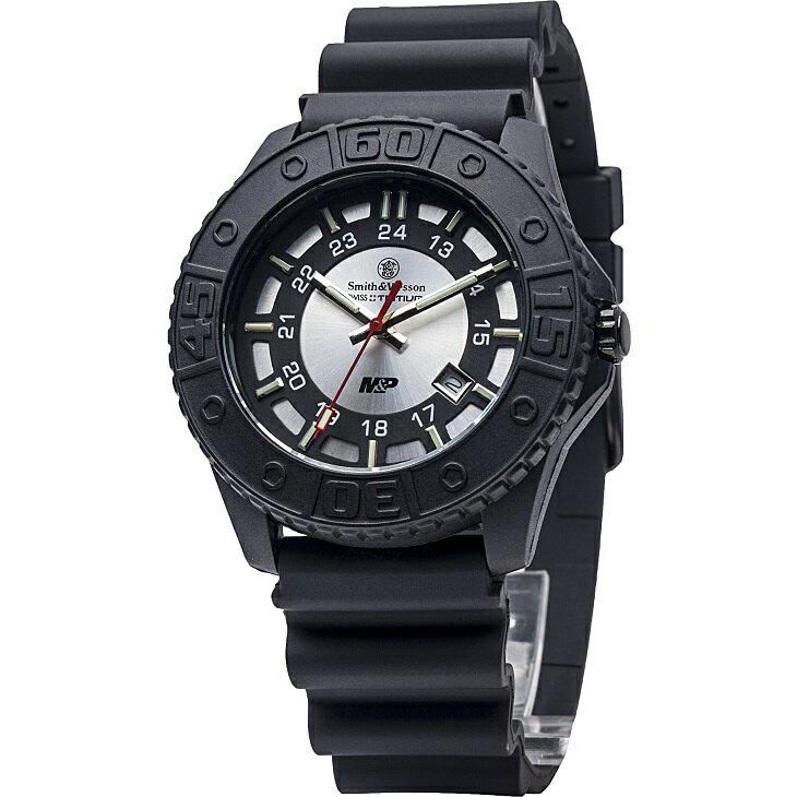 ●●【正規品】スミス&ウェッソン S&W M&P ウォッチ 発光トリチウム 腕時計 SWMP18gry【送料無料】 老舗銃器メーカースミス&ウェッソン/S&W社のダイバーウォッチ
