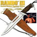 【ポイント最大16倍】ランボー 3/RAMBO III スタンダード サバイバルナイフ RB3 シルベスター・スタローンサイン入り 10000本限定品