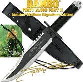 ランボー 2/RAMBO II ファーストブラッド サバイバルナイフ RB2 シルベスター・スタローンサイン入り 10000本限定品