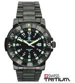 【送料無料】スミス&ウェッソン/S&W コマンダー ミリタリーウォッチ 発光トリチウム 腕時計 SW357BSS