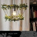 ペンダントライト ペンダントランプ led対応 E26 60W アイアン かわいい 北欧 個性的 カフェ 造花 オリーブ 人工観葉植物 インテリア 観葉植物 おしゃれ フェイクグリーン 照明 天井照明 Fillo Iron 送料無料