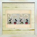 絵画 アートフレーム イラスト ディズニー ミッキー レトロ Disney 壁掛け 卓上 おしゃれ アンティーク風 カフェ アートポスター キッズインテリア ギフト