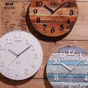 掛け時計 壁掛け 電波時計 電波 壁掛け時計 アンティーク 掛時計 ウォールクロック アメリカン レトロ ウォールクロック 掛け時計 ホワイト ヴィンテージ風 ...