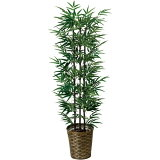観葉植物 光触媒 造花 インテリア グリーン 大型 イミテーショングリーン 植物 人工観葉植物 リビング おしゃれ オフィス 黒竹 (幹/天然黒竹) 高さ150cm アートグリーン