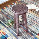 ハイスツール カウンター 木製 スツール 椅子 北欧 丸 ハイスツール アンティーク カウンターチェア カウンタースツール おしゃれ ハイチェア イス ウッド 背もたれなし 1人掛け 花台 植物 ハイタイプ ナチュラル 木 玄関 カフェ 完成品 グリーン/ブラウン/アイボリー