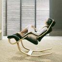 ロッキングチェアー 1人掛け 揺れる 椅子 揺れ椅子 ビーチナチュラル/布張り ファブリック