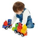 赤ちゃん ベビー おもちゃ 12ヶ月 電車 車 ブロック 乗り物 玩具 一人遊び 男の子 出産祝い お祝い プレゼント ギフト あかちゃん 子ども 子育てグッズ 子育て用品 キッズ用品 ベビー用品 K's Kids ケーズキッズ TYKK10654 ビークル・ブロックストレインセット