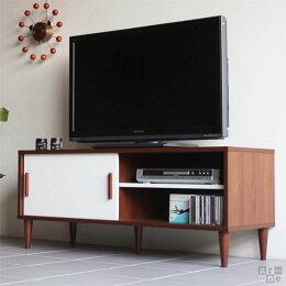 テレビ台収納ブラウン扉ローボード薄型引き戸120120cm木製テレビボード完成品北欧ナチュラル32型42型37型ホワイトレトロ日本製tv台40型白32インチavボードTVボード40インチミッドセンチュリーロー42インチ寝室一人暮らしおしゃれ送料無料