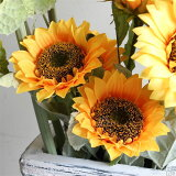 ひまわり 向日葵 造花 フラワー インテリア 観葉植物 1本売り 人工花 イミテーショングリーン Sunflower-S 【Sサイズ】 1本 ヒマワリ 植物 アートフラワー インテ