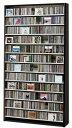 CDラック 【1284枚収納可能】 DVDラック 【560枚収納可能】 ダークブラウン 幅100cm ディスプレイ CDラック DVDラック