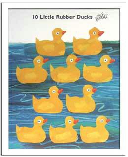 アートポスター エリック 子供 ポスター カール 北欧 額絵 壁飾り 額 絵 エリックカール 絵本 ウォールパネル アートパネル アートフレーム ウォールアート イラスト パネル フレーム 壁 飾る インテリア あひる アヒル 子供部屋 10 Little Rubber Ducks