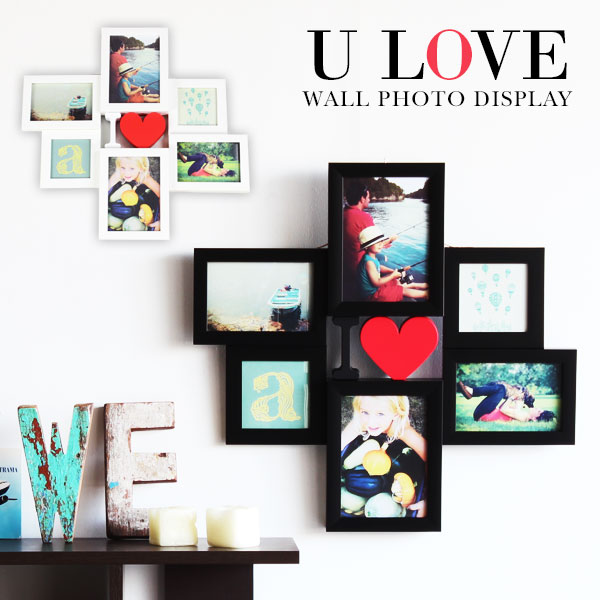 photo frame wall hanging stylish picture frames multiple photo frame cute gifts wedding memories gift black white photo stand photo wall frame heart photo