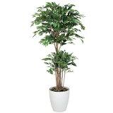 光触媒 観葉植物 トロピカル ベンジャミン 高さ160cm 大型 人工観葉植物 人工植物 インテリア フェイクグリーン 造花 消臭 抗菌 防汚 ホルムアルデヒド 分解 水やり不要