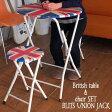 テーブルセット 3点 セット 折りたたみ ダイニングチェア 2脚セット ダイニング用 チェア イス アウトドア コンパクト キッチン ガーデン テーブル ダイニング用 チェア BTS-60 Britishテーブル&チェア2脚セット BLITS UNION JACK