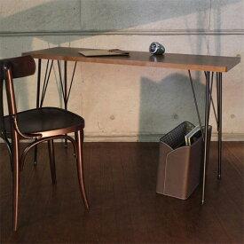 デスクアイアン脚パソコンデスク120cm120カフェ風木製幅120アンティーク風奥行40テーブル木製デスクカウンターおしゃれ木製テーブルワークテーブル木ハイタイプレトロ机ブラウン書斎デスク120幅幅120cm送料無料Brno
