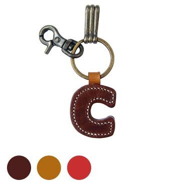 キーホルダー アルファベット 革 かわいい ヌメ革 日本製