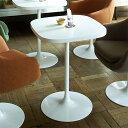 コーヒーテーブル 北欧 カフェテーブル 60 1本脚 ホワイト カフェ テーブル シンプル 白 インテリア 送料無料 一人 センターテーブル デスク ダイニングテーブル 応接テーブル スクエアテーブル 高級感 店舗用テーブル SWITCH スウィッチ KA Table ラウンド脚