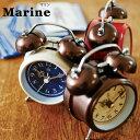 置き時計 アナログ アラーム時計 目覚し時計 目覚し 時計 アラームクロック アラーム 置時計 置き かわいい ミニ めざまし ヨーロピアン 目覚まし時計 目覚時計 めざまし時計 北欧 アンティーク おしゃれ レトロ クラシカル インテリア 雑貨 CL-8950 Marine テーブルクロック