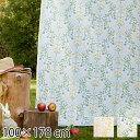 ドレープカーテン 100×178 カーテン タッセル おしゃれ かわいい 北欧 2枚組 花柄 エレガント 洋風 ドレープ タッセル付き 日本製 ナチュラル 100×178cm 2枚入り イエロー グリーン