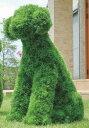 人工観葉植物 動物型 アニマル 犬モチーフ ガーデン トピアリー アートグリーン 外 庭 イヌ 高さ68cm(Mサイズ) フェイクグリーン ディスプレイ アート...
