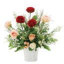アレンジフラワー光触媒観葉植物インテリアアートグリーン人気おしゃれ造花ギフトお祝い花ソレイユローズフラワーギフト誕生日母の日人工観葉植物フェイクグリーンイミテーショングリーンイミテーション植物