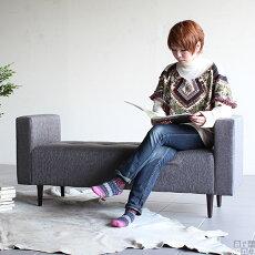 長椅子ベンチ待合室ソファチェアベンチソファー背もたれなしアンティークミニソファミニソファーソファベンチおしゃれダブルアームソファー2人掛けコンパクト北欧送料無料ベンチチェアロビーチェア日本製BaggyDA2×5ファブリックarne