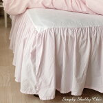 ホワイトアイレットベッドスカート