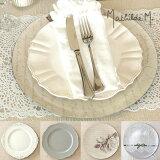 マチルドエム サービングプレート(ホワイト/グレー/ローズ/デンテル)この飾りプレートがあるだけで、お料理もグレードアップして見えるんです