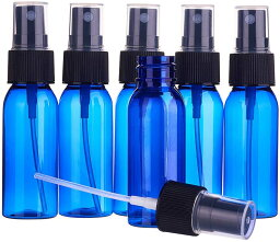 5個セット30ml スプレーボトル <strong>アルコール</strong>対応 青色 遮光 BPAフリープラスティック製 極細のミスト 化粧品小分け <strong>詰め替えボトル</strong> ただ今期間限定の大特価