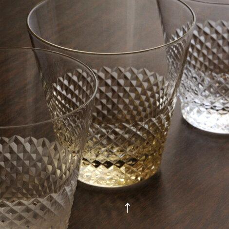 江戸硝子 綾 aya 古代色 10オンス オールド グラス 江戸切子 タンブラーグラス