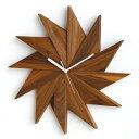 時計 掛け時計 掛時計 壁掛け時計 壁掛け 壁飾り壁面デコ ウォールディスプレイ オブジェ ウォルナットウォールナット 無垢 アナログ時計 おしゃれ 送料無料PLAM/プラム ナチュラルウッド ウォールクロック 風車