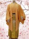 No.32-No.325 Lilianne オレンジカラーアンサンブル 卒業式 成人式 男性用 紋服セット レンタル!