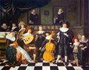 油絵 ジャン・ミエンセ・モレナーの名作「音楽家ファミリーの肖像画」
