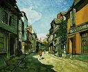 油絵 モネの名作「オンフルールのバヴォール街」