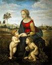 油絵 ラファエロの名作「美しき女庭師」 正式名「聖母子と幼児聖ヨハネ」