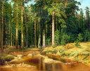 油絵 Ivan Shishkinの名作「松の木立」