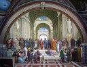 特価油絵 ラファエロの名作「アテネの学堂」