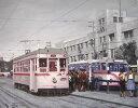 特価油絵懐かしい風景・路面電車
