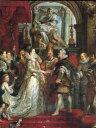 油絵 ルーベンスの名作「代理人によるマリー・ド・メディシスと...