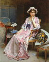 油絵 Raimundo de Madrazo y Garreta_寝室の婦人